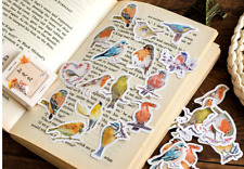 45pcs/box Cute Robin Bird Paper Stickers Ablum Diary Decor Scrapbooks Label
