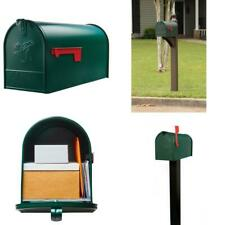 Gibraltar Mailboxes Elite Large Galvanized Steel Post-Mount Mailbox Green