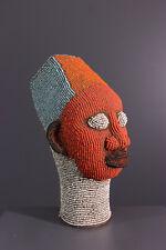 Bamileke Head African Tribal Art Africain Arte Africana Afrikanische Kunst *