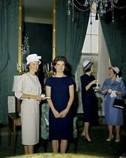 First Lady Jacqueline Kennedy with wife of astronaut Alan Shepard New 8x10 Photo