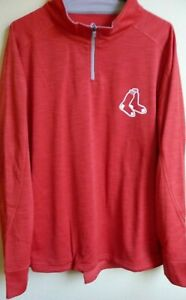 MLB Majestic Boston Red Sox Baseball 1/4-Zip Pullover Jacket 1X NWT