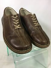 Izod Greenville Split toe Oxford Shoes Men's Lace Casual 9.5 M Brown