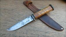 BEAUTIFUL Old Customized Kabar Ka-Bar Carbon Steel Hunting Knife - RAZOR SHARP!