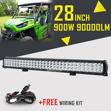 TRI ROW 28INCH 900W CREE LED WORK LIGHT BAR SPOT FLOOD DRIVING 4WD PICKUP 24/26""