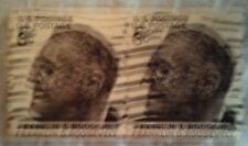 1968 Scott 1305 U. S. Frankin D. Roosevelt two used 6 cent stamps off paper