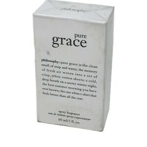 Pure Grace for Women Philosophy Eau de Toilette Spray 2.0 oz - New in Sealed Box