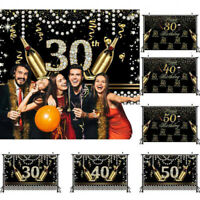 30/40/50 Birthday Photo Backdrop Sequin Photography Background Adult Party Decor