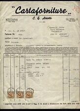 Fattura - Cartaforniture ARIOTTI Bologna x Salumeria Tinti Funo di Argelato 1939