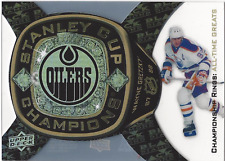 Wayne Gretzky Black Diamond Stanley Cup Championship Ring Bearers, All Time Grea