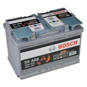 Bosch S5 A08 AGM VRLA Start-Stop Starterbatterie 70Ah Autobatterie *NEU*