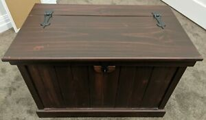 Solid Timber Wood Storage Blanket Box Trunk Chest with Internal Shelves Custom