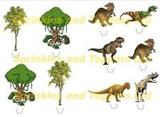 Novelty Dinosaur Scene Edible Stand Up wafer paper cake toppers birthday