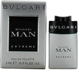 Man Extreme By Bvlgari For Men Mini EDT Cologne Splash 0.17oz New