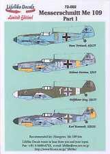 Lifelike Decals 1/72 MESSERSCHMITT Me-109 Fighter Part 1
