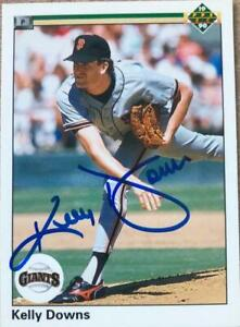 Kelly Downs Autographed 1990 Upper Deck #699