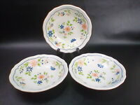 """Country French Ironstone soup/salad bowl, 6 1/2"""" Set Of 3"""