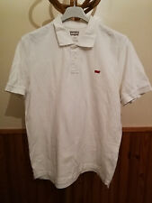 Polo Homme Levi's Strauss L Large Golf Blanc Rugby Red Tab Logo