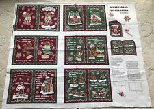 Springs Creative Gingerbread Cookie Christmas Fabric Book Panel