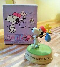 Snoopy & Woodstock Hallmark Figur Peanuts - Love where you`re headed ! Neu & OVP