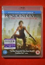 New & Sealed Resident Evil THE FINAL CHAPTER 3D Blu-Ray UK Release Region Free