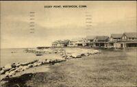 Westbrook CT Kelsey Point Homes Postcard c1930s