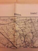 Messtischblatt 2780 Hilden 1936 Benrath Düsseldorf Richrath topographische Karte
