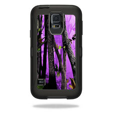 Skin Decal Wrap for OtterBox Defender Samsung Galaxy S5 Case Purple Tree Camo