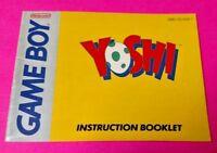 Yoshi  - Nintendo Game Boy Instruction MANUAL ONLY - No Game