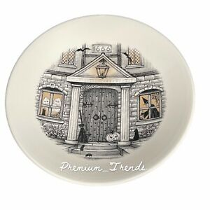 """Royal Stafford 2021 Halloween Haunted House Serving Pasta Bowl Round 13.5"""""""
