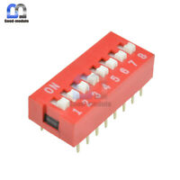 Slide Type Switch Module 2.54mm 8-Bit 8 Position Way DIP Red Pitch