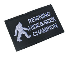 ARMY MORALE REIGNING HIDE SEEK CHAMPION Tactical  Patches BADGE HOOK PATCH s 850