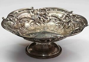 Sterling Silver Reed and Barton Les Six Fleurs Footed Dish - VERY ORNATE