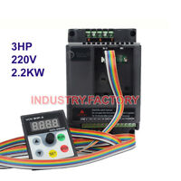 3HP 2.2KW Variable Frequency Driver Inverter 1phase VFD + 5M Cable CNC Router