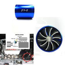 Aluminum Car Air Intake Turbonator Engine Turbine Charger 2-Fan Gas Fuel Saver