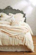 Anthropologie TOULOUSE Queen Duvet Cover ivory cotton NWT