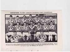 Team Pic from 1963-64 FOOTBALL Annual - WAKEFIELD TRINITY + SWINTON Rugby League