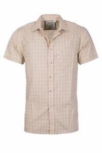 Men's Short Sleeve Shirts Country Check Pattern Rydale Shirt Cotton Blend