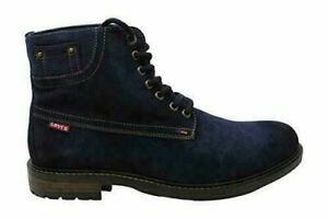 LEVI'S Mens Suede Boots Sheffield Blue Ankle Lace Up Winter Shoes Size 11 M