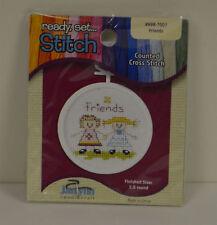 "JANLYNN ""Ready Set Stitch"" Counted Cross Stitch Friends #998-7007 New Kit"