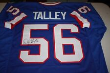 BUFFALO BILLS DARRYL TALLEY #56 SIGNED JERSEY 4 TIME AFC CHAMPION SPIDERMAN