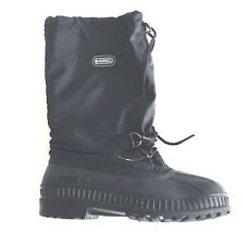 SOREL Boy's Size US 5 Winter Pull On Snow Boots Black Lined Made In Canada