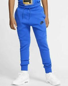 Nike Tech Fleece Pants Boys Size Medium Joggers Blue Sportswear 804818 402  $70+
