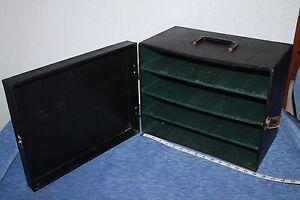 Vintage  35 mm Photo  Projector  Slide   storage  Box   Case     Black