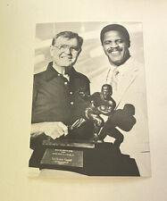 University Of Texas Printing Services Earl Campbell & Darrell Royal Postcard
