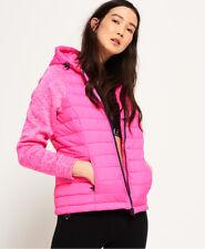 New Womens Superdry Storm Hybrid Zip Hoodie Vibe Pink
