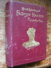 Antiquarian Life and Explorations of Fridtjof Nansen,J.A.Bain,1897,North.Pole.GC