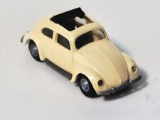Vintage Praline 1952 VW Beetle 1200 Split Window Bug - 1:87 HO Scale