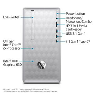 HP Pavilion MT 590-p0066 ,Intel i5-8400 ,2.8ghz ,12GB RAM & 1TB HDD ,2018