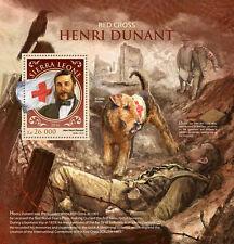 Sierra Leone 2016 Henri Dunant Red Cross Nurse Alfred Nobel S/S SRL16918