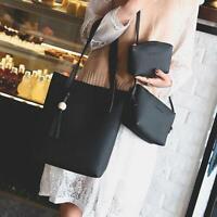 3pcs Women Leather Handbag Shoulder Bag Tote Purse Messenger Satchel Clutch Bags